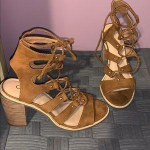 Brown Cato Block Heels